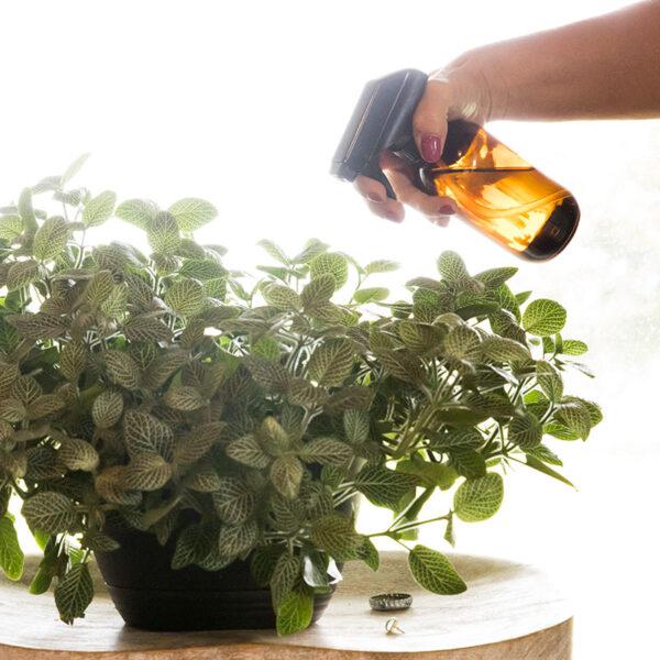 Amber Glass Spray Bottles - 2 pack